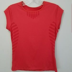 Pink Nike short sleeve fitted workout shirt xs